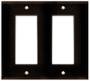 (WD2BRN) Decorative Wall Plate 2-Gang Brown