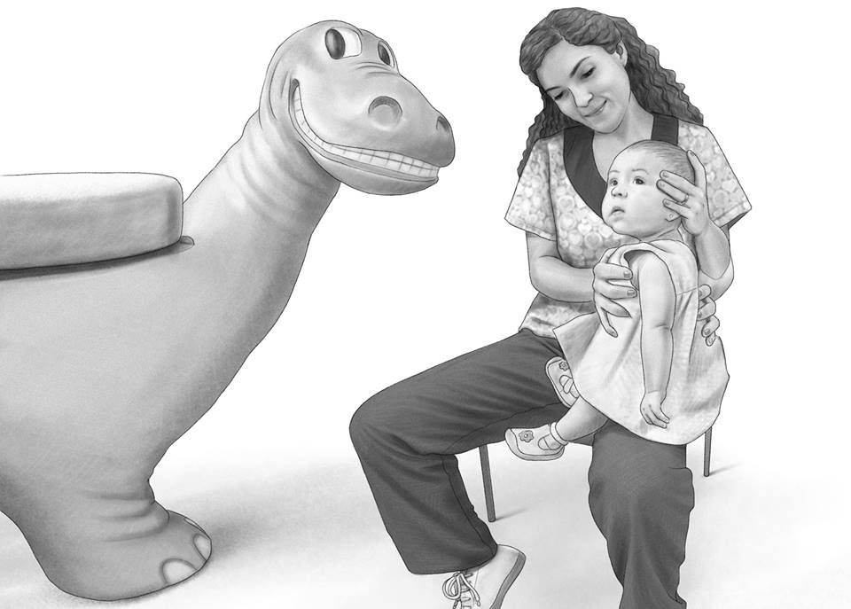 Pediatric Nurse with Child and Zoopal