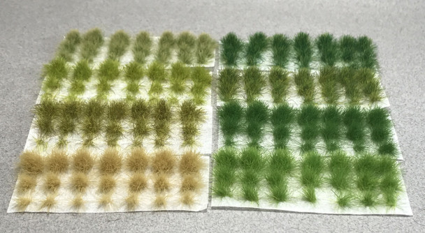 6mm Self-Adhesive Static Grass Tufts - Grass Sampler