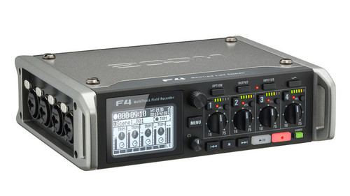 Zoom F4 Multitrack Field Recorder Rear