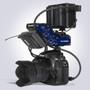 Beachtek DXA-CONNECT XLR Adapter / Bracket Combo In Use