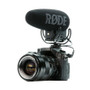 Rode VideoMic Pro+ with Rycote Lyre Suspension Mount mounted on DSLR camera left side