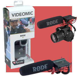 Rode VideoMic with Rycote Lyre Suspension