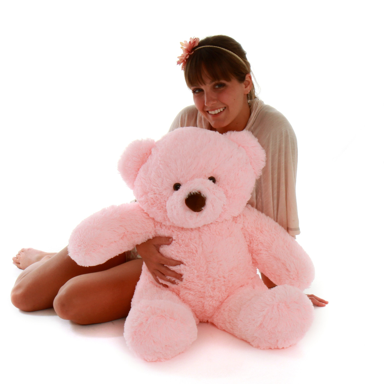Gigi Chubs Light Rose 30in US Made Giant Teddy Super Adorable