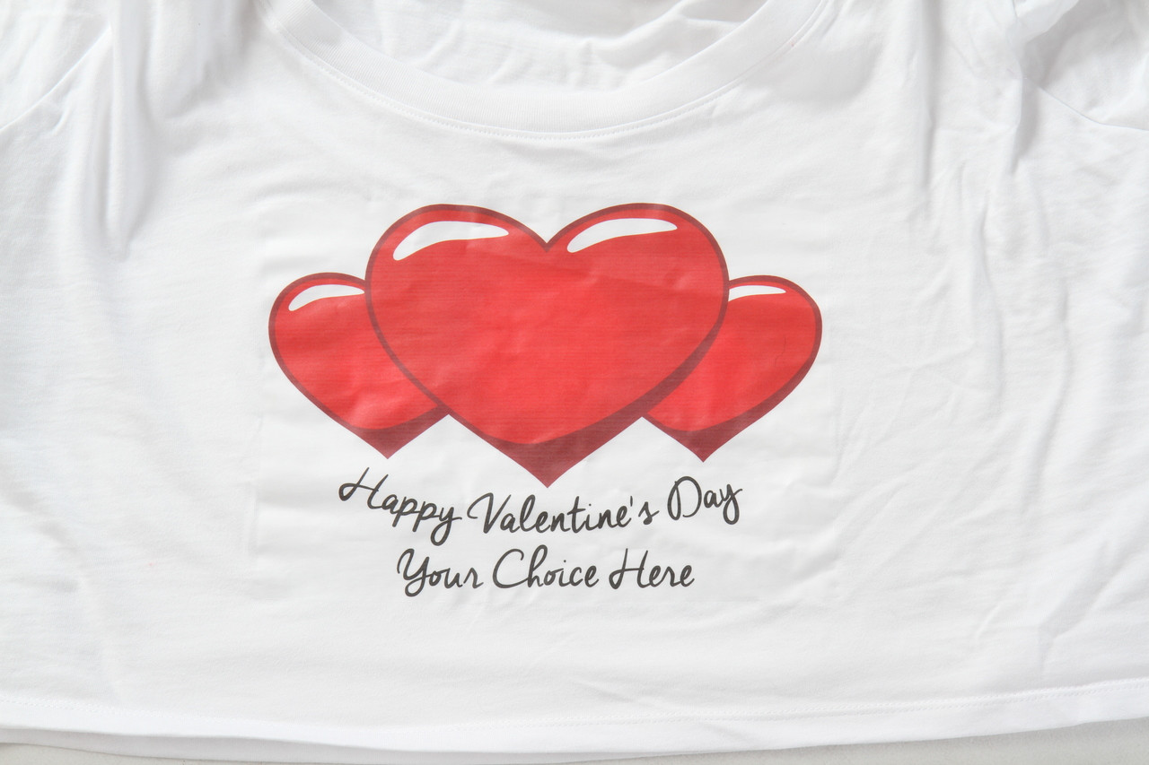 Red Heart Happy Valentine's Day T-Shirt Design