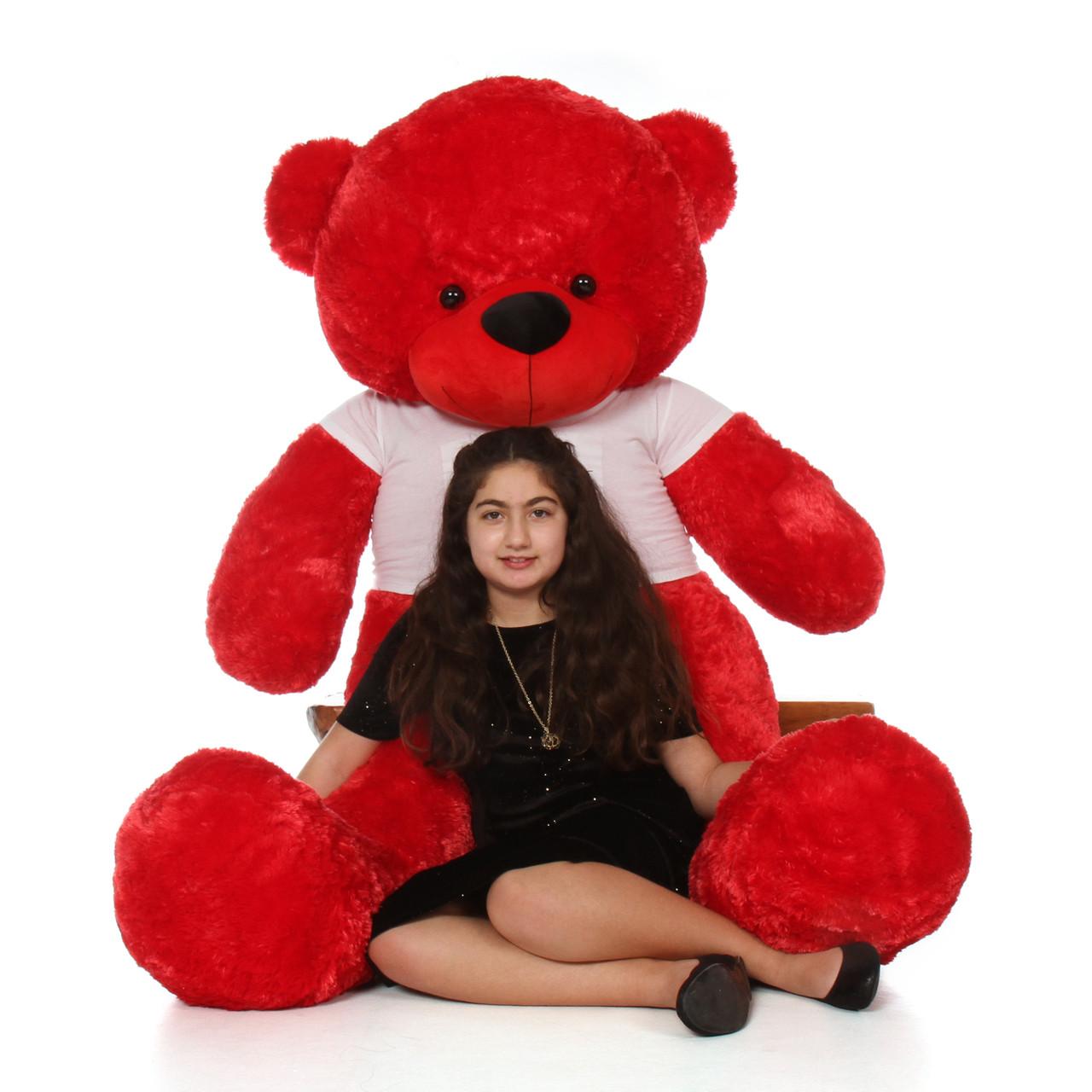 Valentine's Day Gift Teddy Bear - 6 Foot Red Giant Teddy Bear