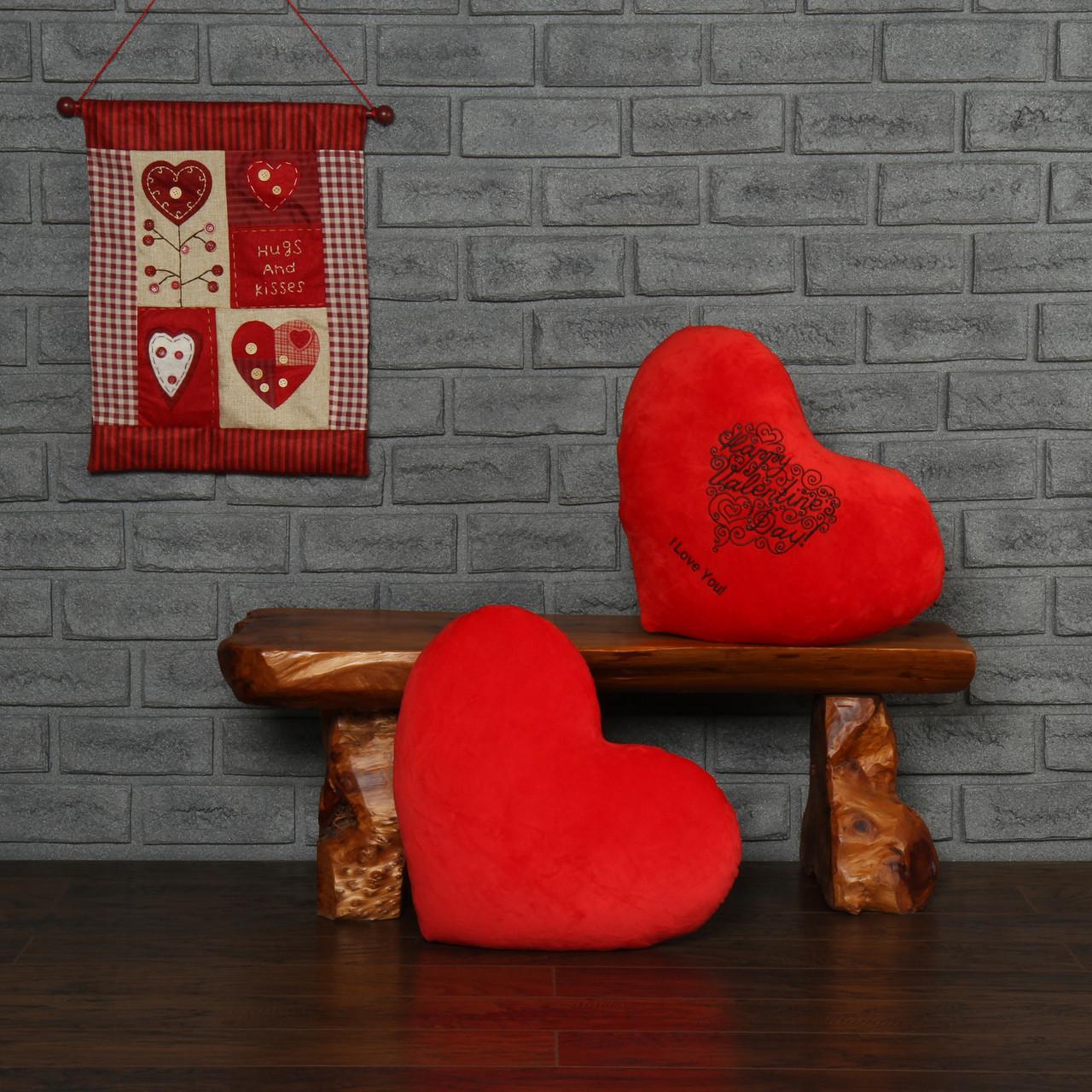 Plain Red Heart Pillow