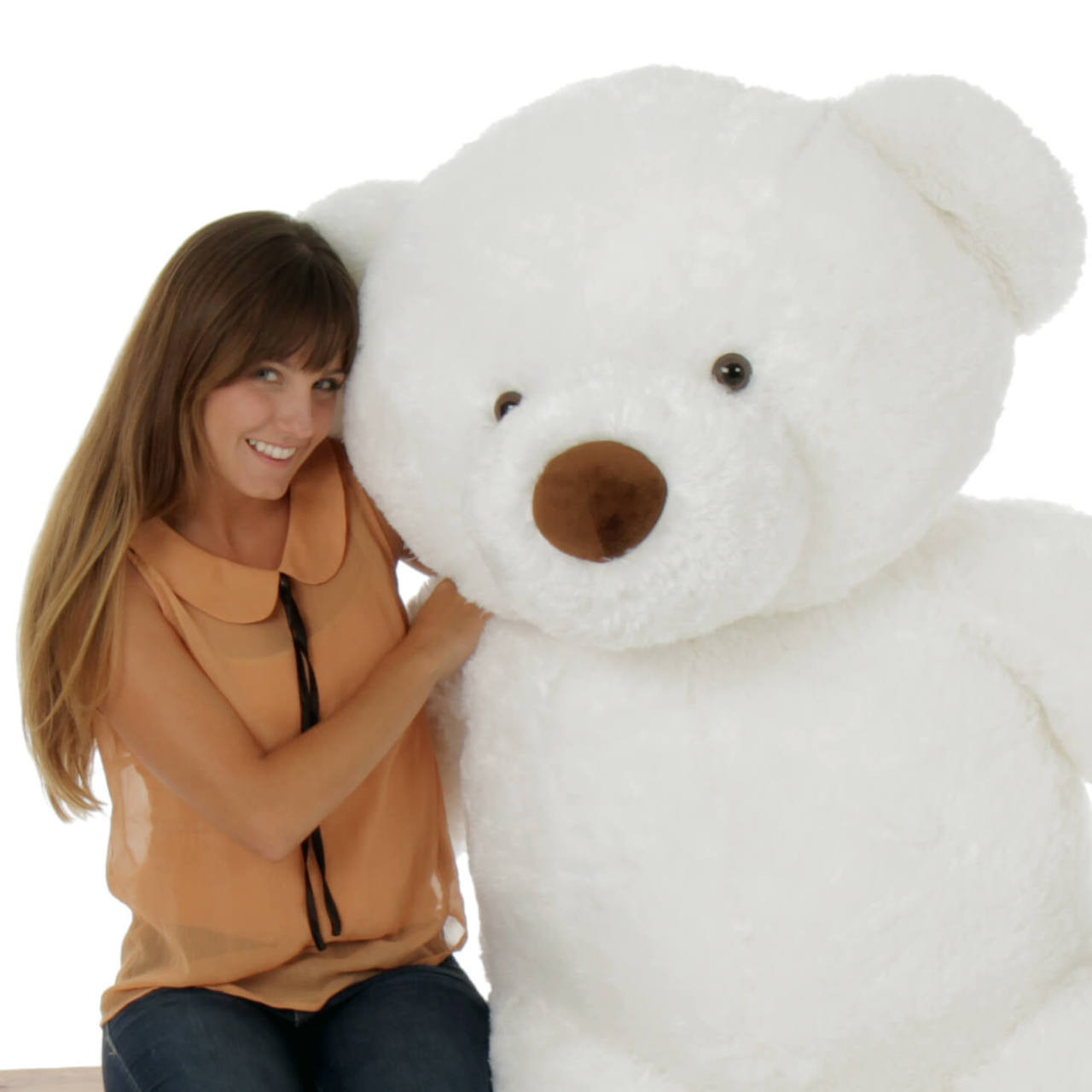 60in Giant Teddy Bear White Sprinkle Chubs