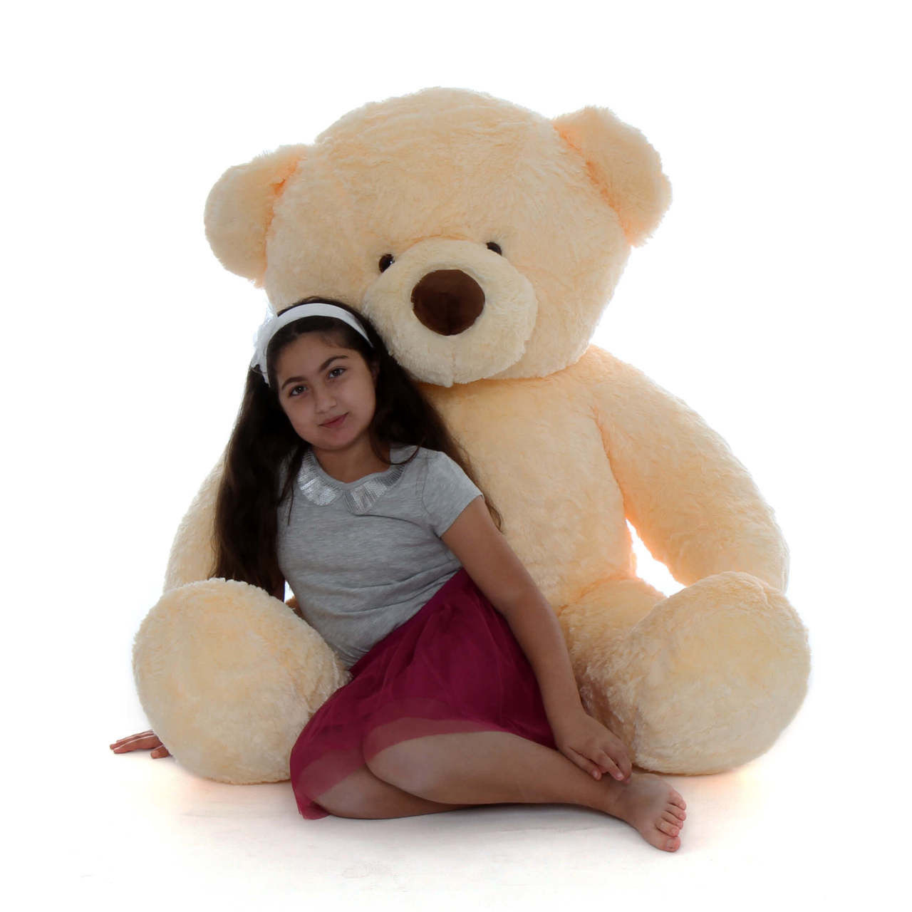 5ft smiley Chubs Vanilla Teddy bear