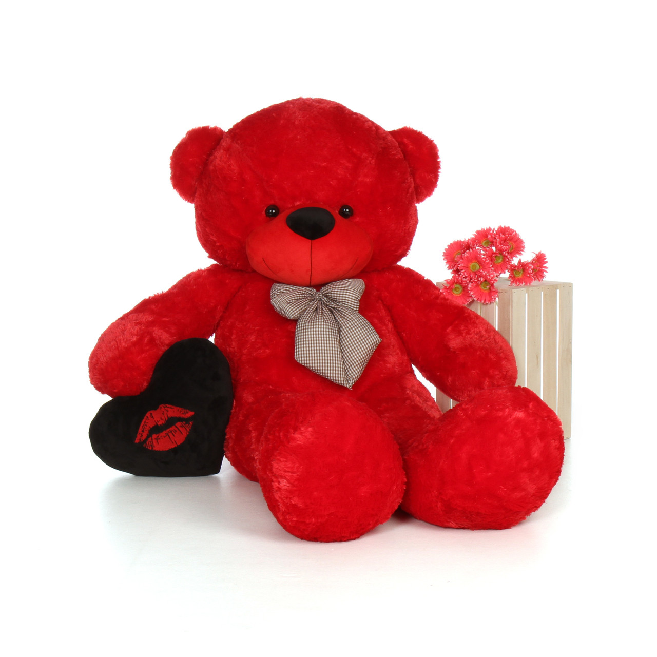 6 Foot Huge Life Size Red Valentine's Day Teddy Bear Bitsy