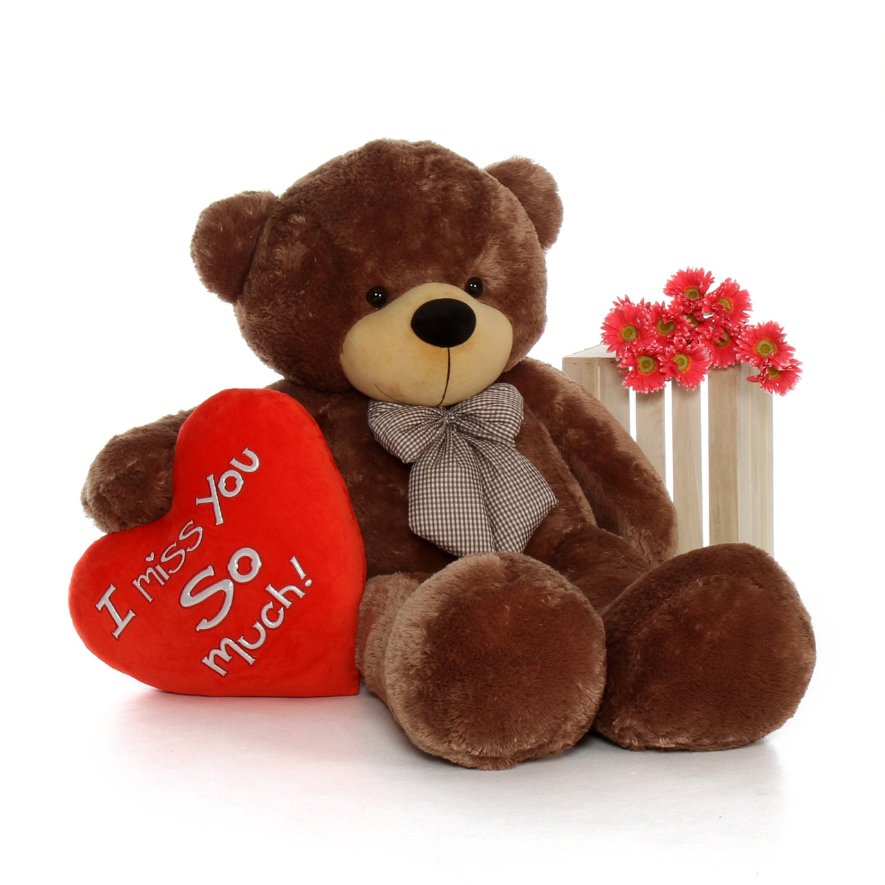 5 Foot Life Size Valentine S Day Teddy Bear Sunny Cuddles With