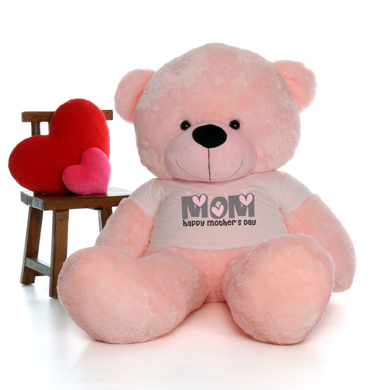 72in Pink Lady Cuddles Happy Mother's Day Mom Teddy Bear