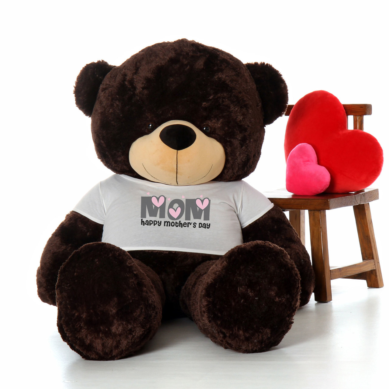 72in Chocolate Brownie Cuddles Happy Mother's Day Mom Teddy Bear
