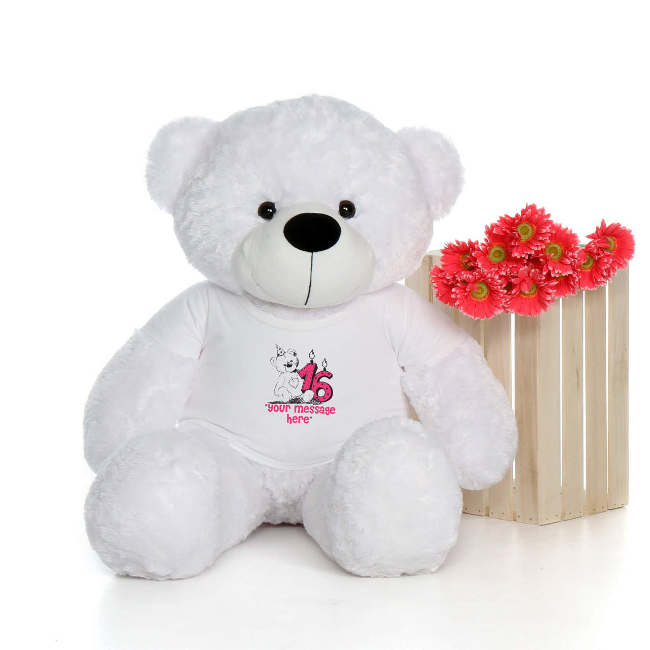 4ft Life Size Make A Wish Personalized Happy Birthday Teddy Bear
