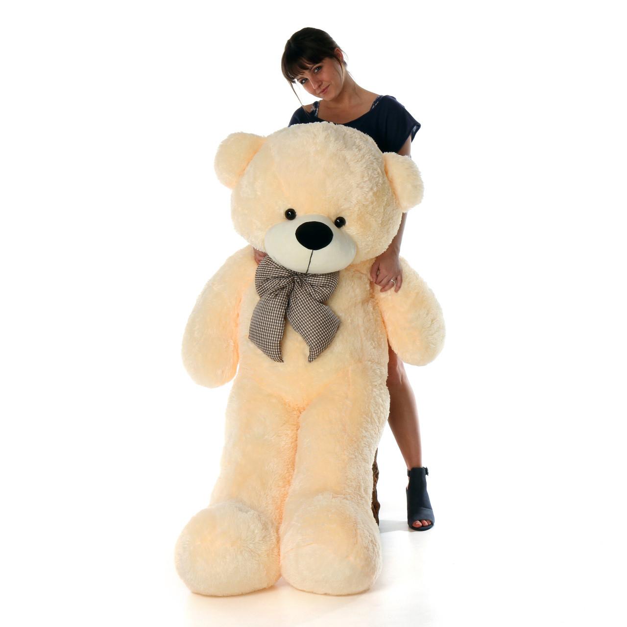 Cozy Cuddles cream teddy bear 55in