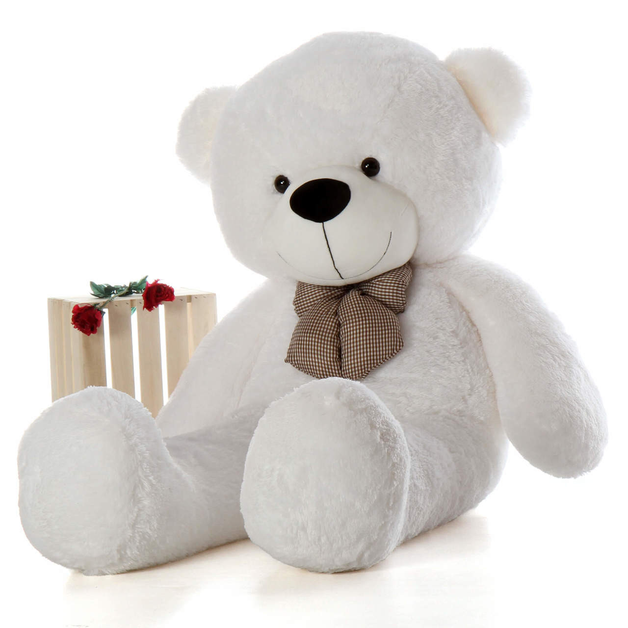 6ft  Best Selling Life Size Teddy Bear Coco Cuddles giant white teddy bear