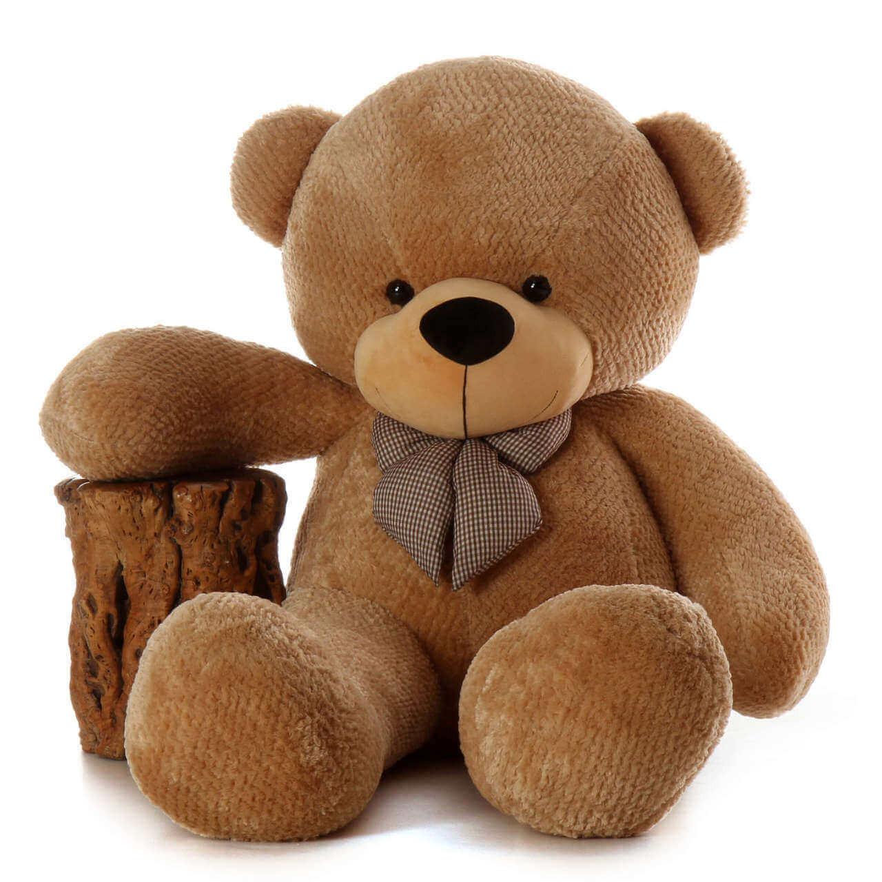 6ft Life Size Teddy Bear Shaggy Cuddles soft amber brown fur