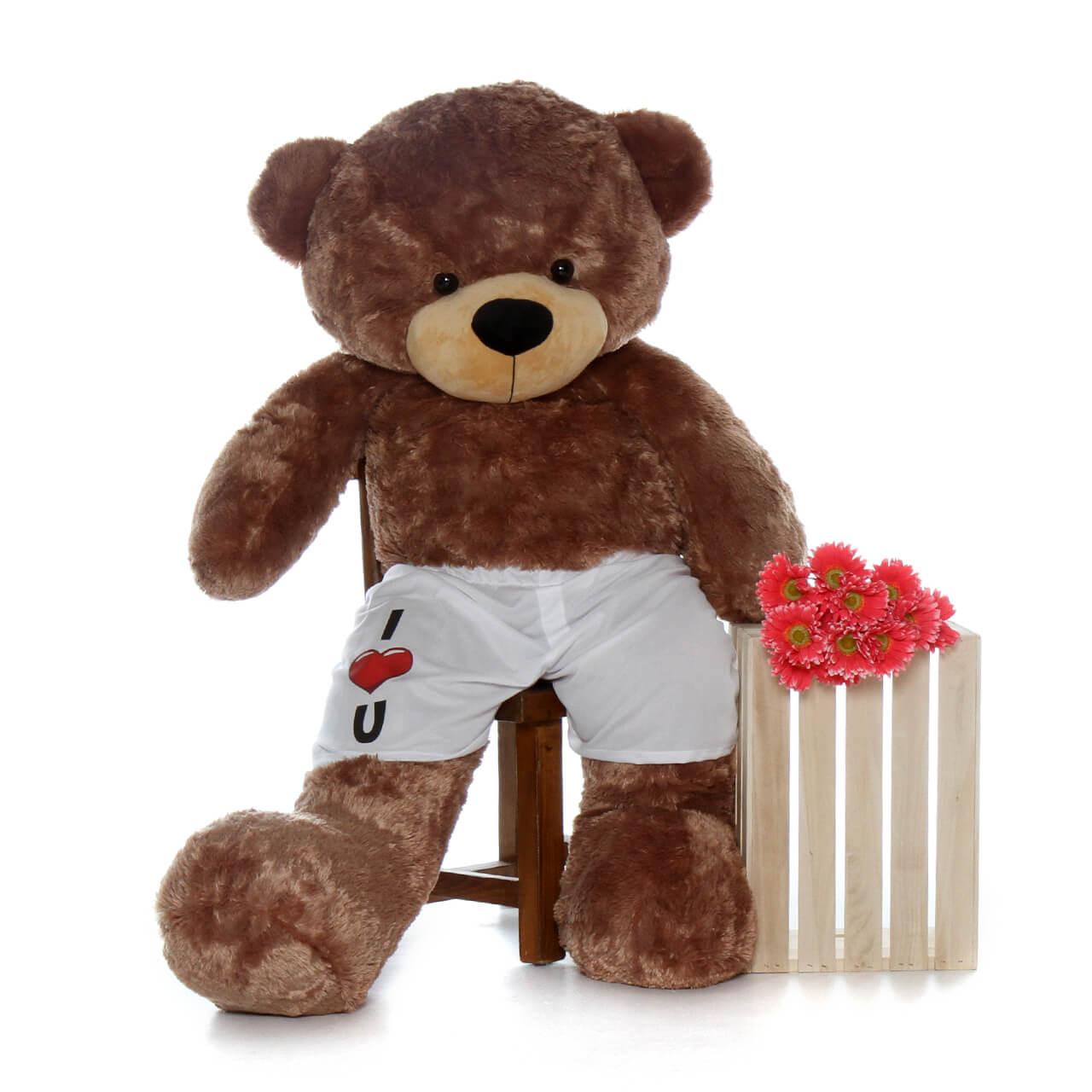 Mocha Brown Giant Teddy Brand Huge Bear with Pants! 5 Foot Bear