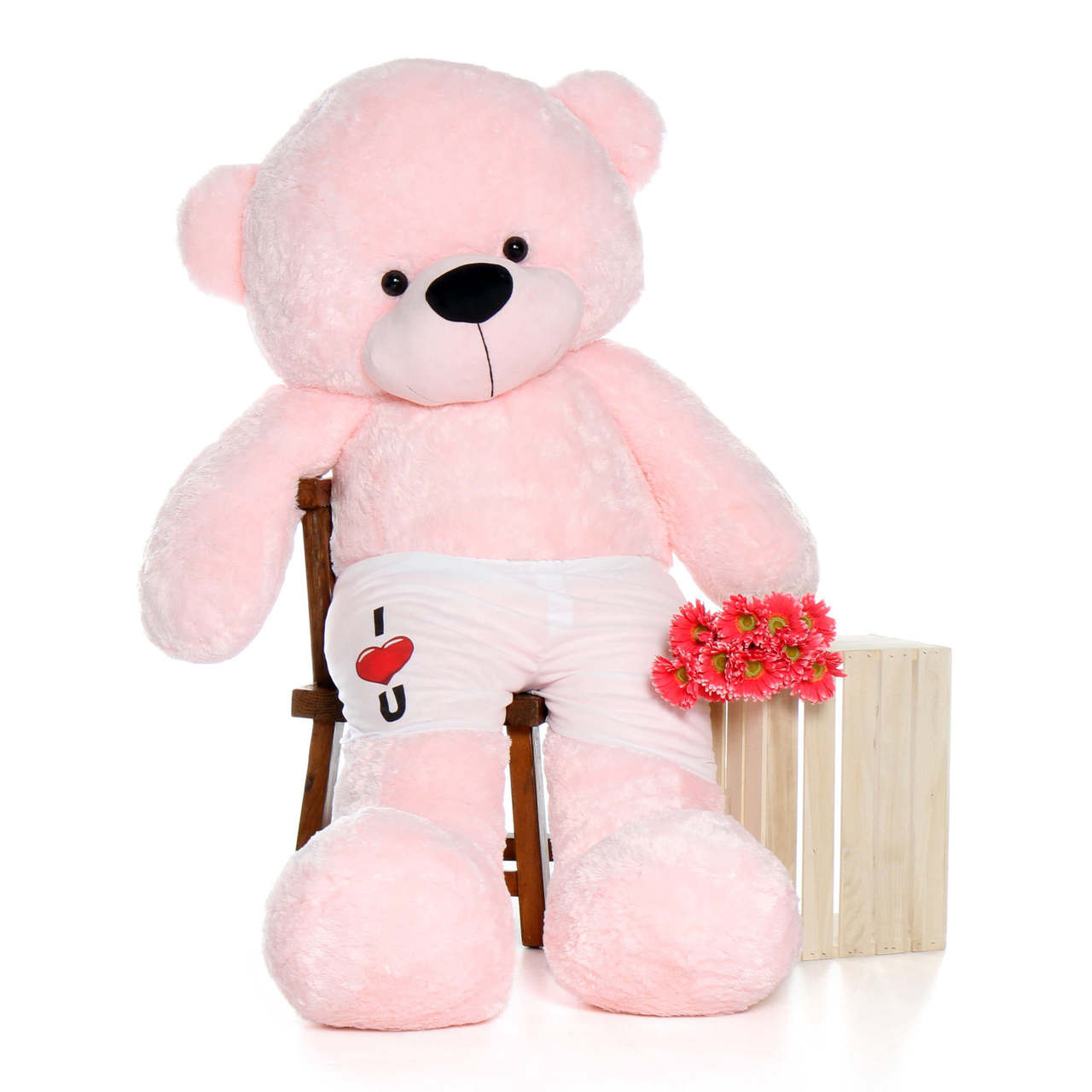 Valentine's Day Surprise 6 Foot Pink Teddy Bear with Boxers