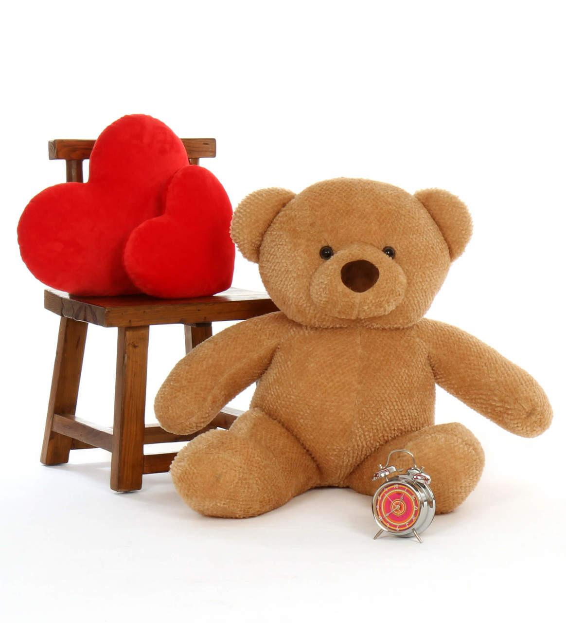Big Amber Teddy Bear Cutie Chubs 38in