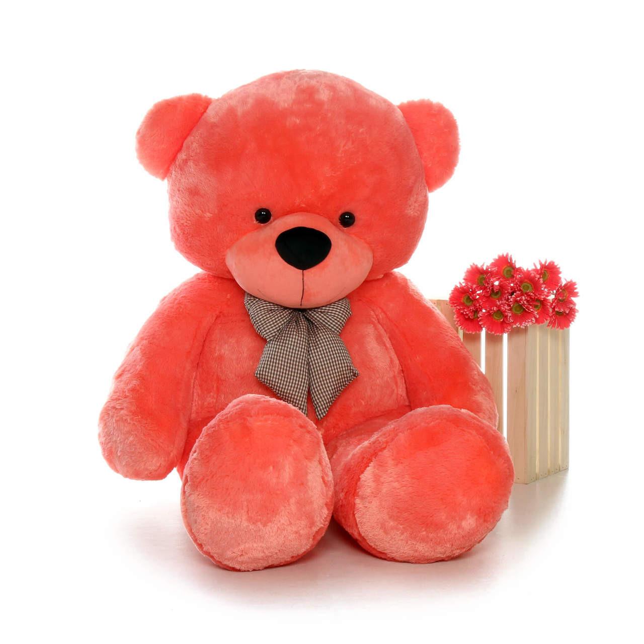 Giant Bubble Gum Pink Unique Colored 6 Foot Giant Teddy Bear