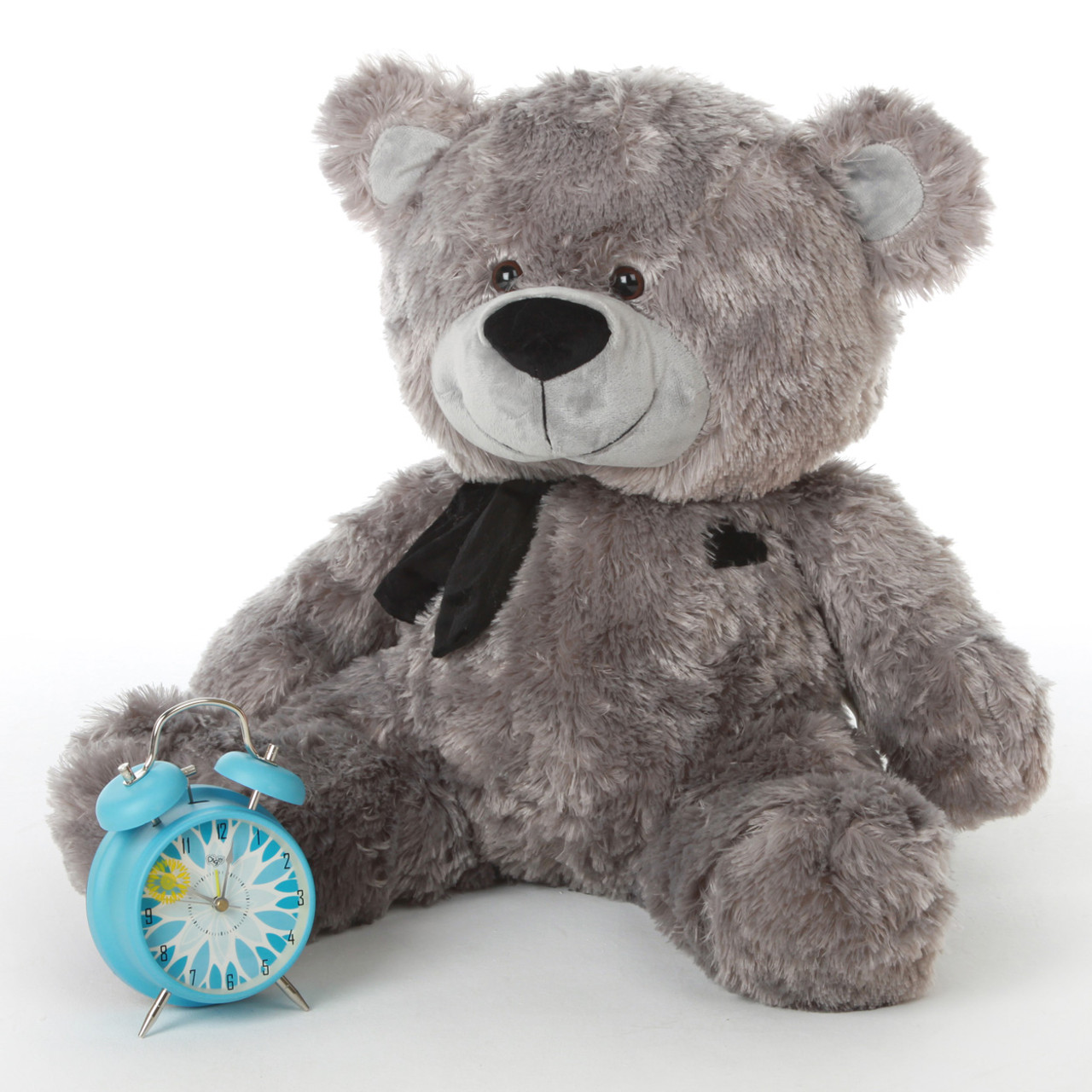 Diamond Shags silver teddy bear 27in