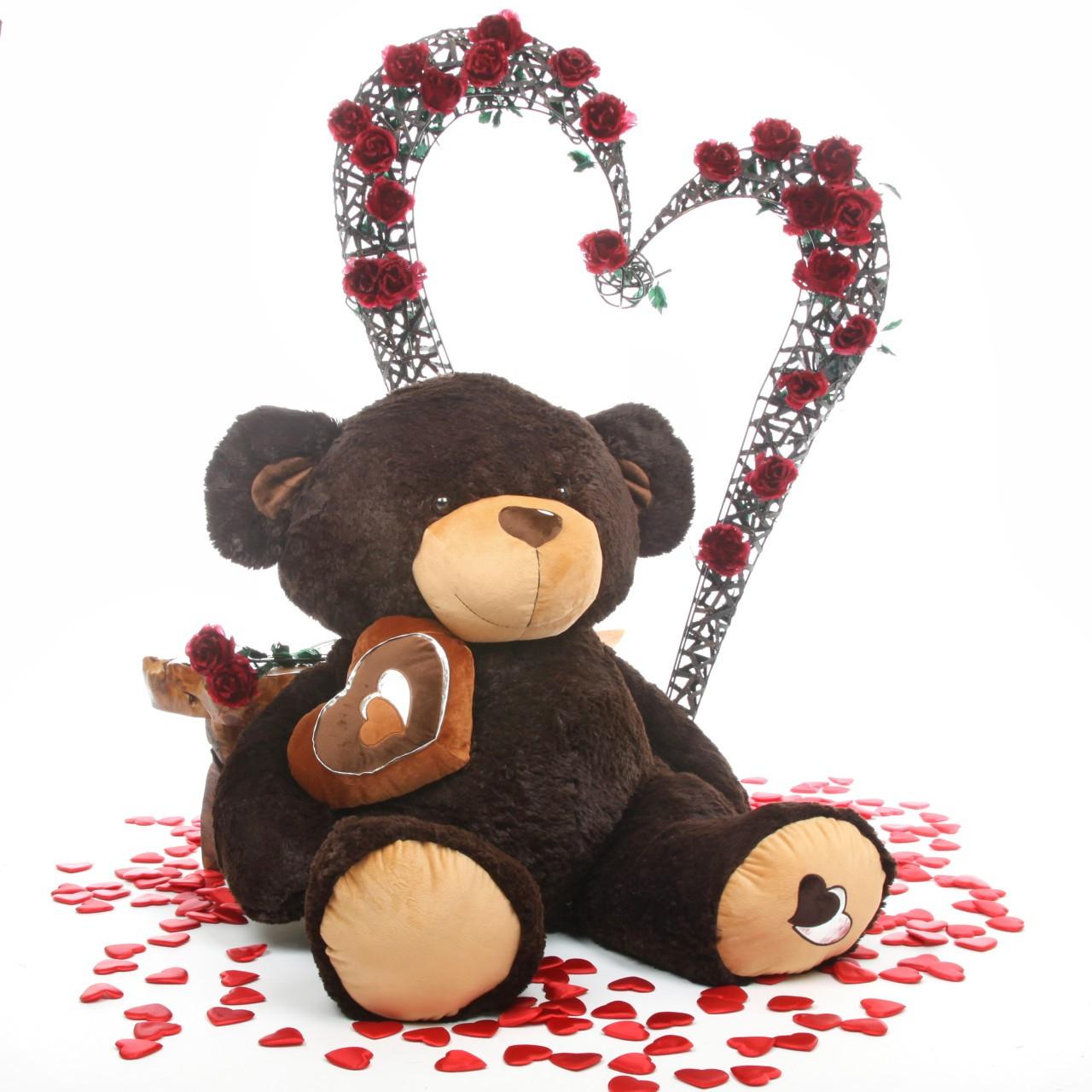4ft Enormous Chocolate Brown Sugar Pie Big Love Teddy Bear