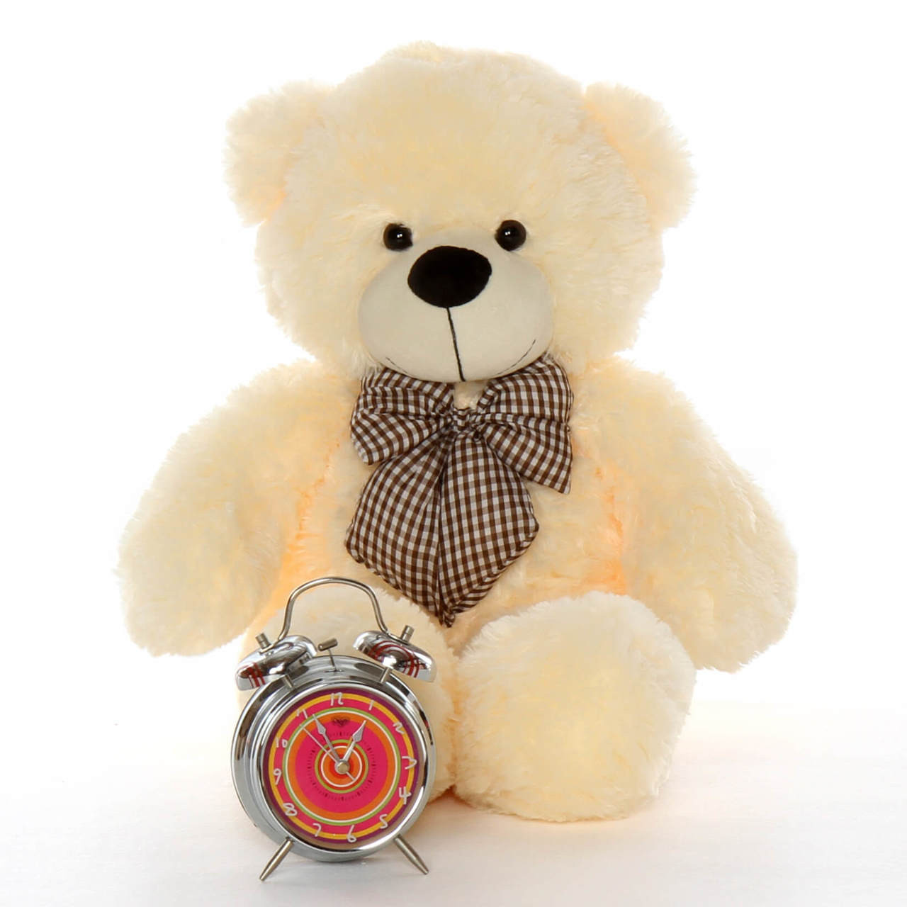 Cozy Cuddles vanilla cream teddy bear 24in