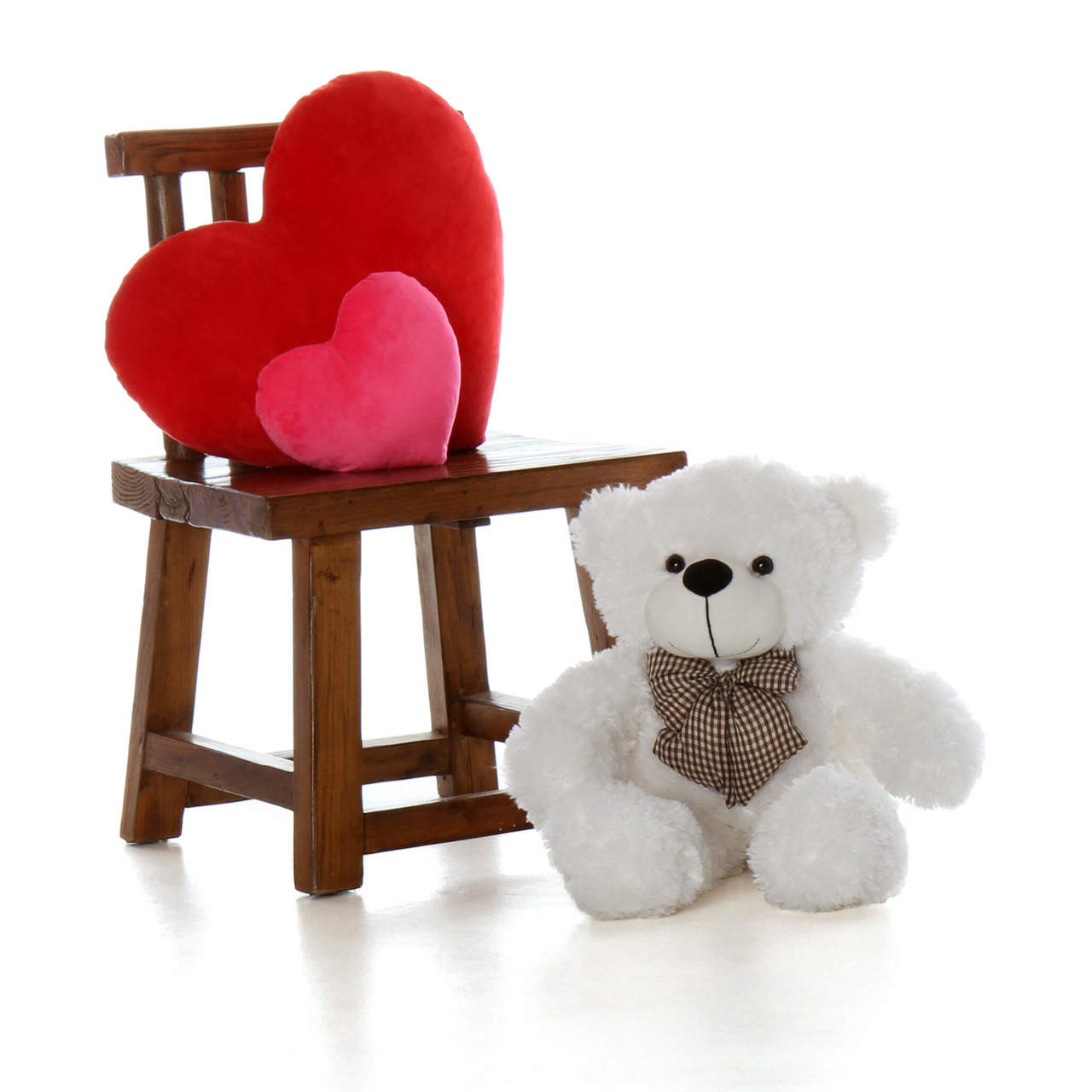 2ft adorable Coco Cuddles White Teddy Bear