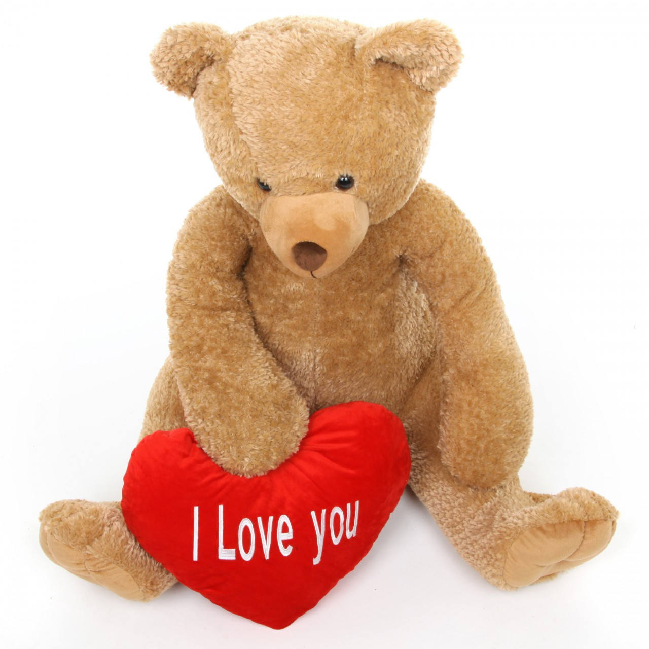 4ft Amber Teddy Bear Honey Heart Tubs With Red Heart