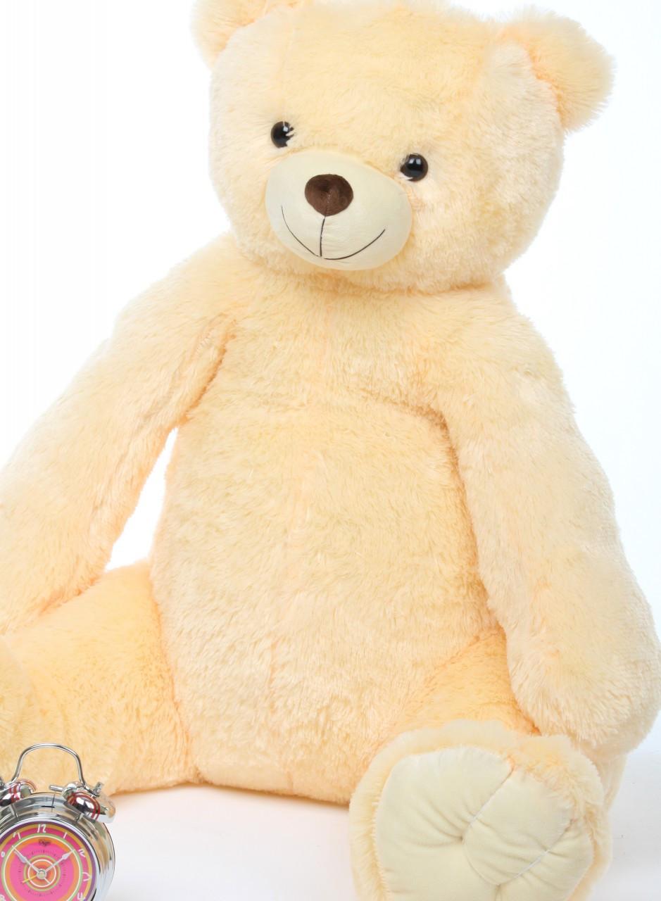 Huge Vanilla Cream Teddy Bear Tiny Tubs 42in