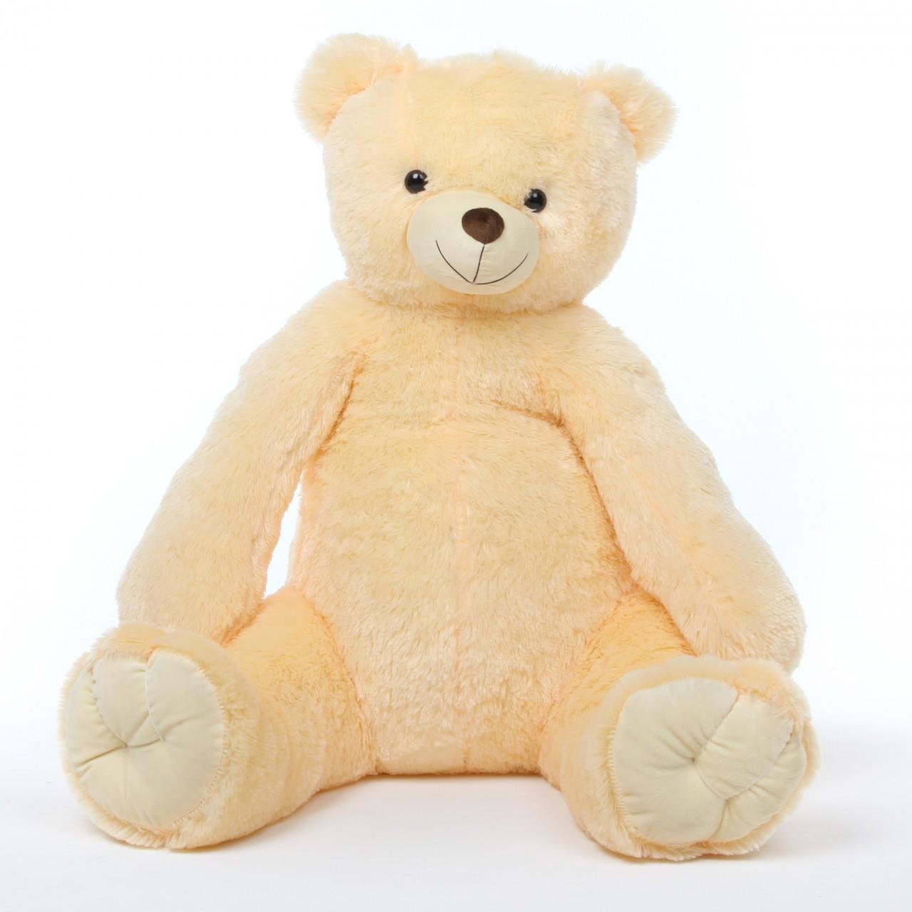 42in Cream Tiny Tubs Vanilla Teddy Bear