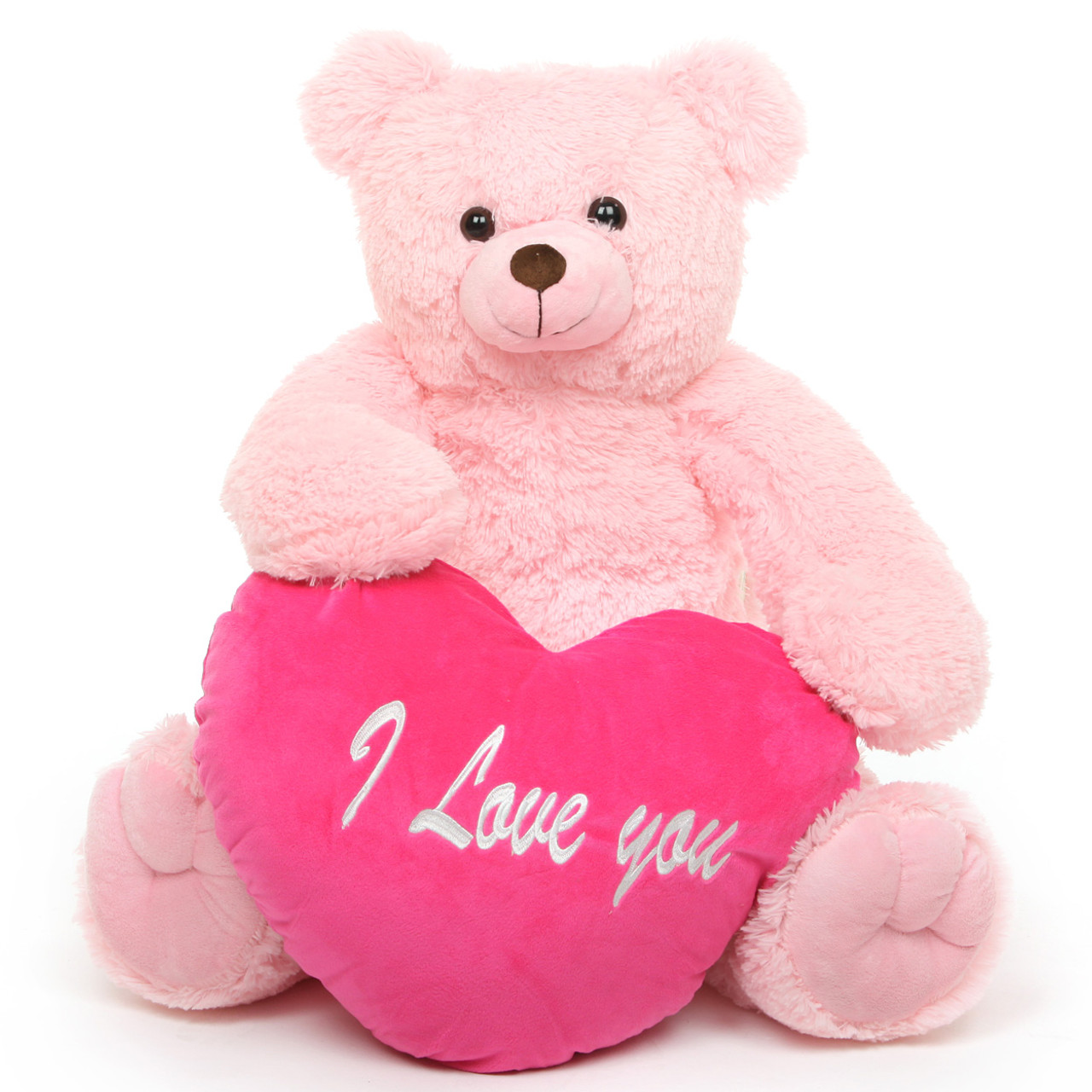 Darling heart tubs 32 pink teddy bear w i love you heart giant darling heart tubs i love you heart pink teddy bear 32in altavistaventures Images
