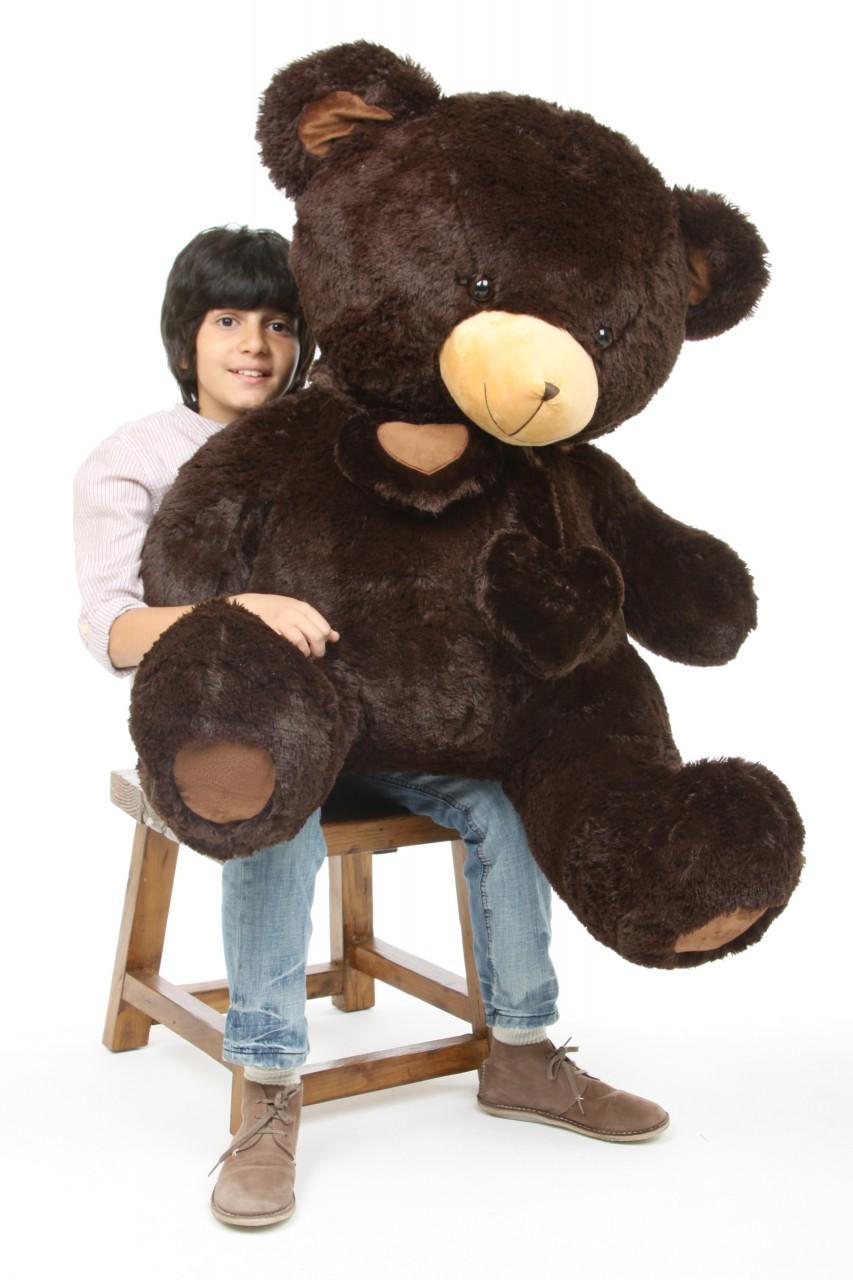 4ft Chocolate Brown Teddy Bear Big Papa Hugs