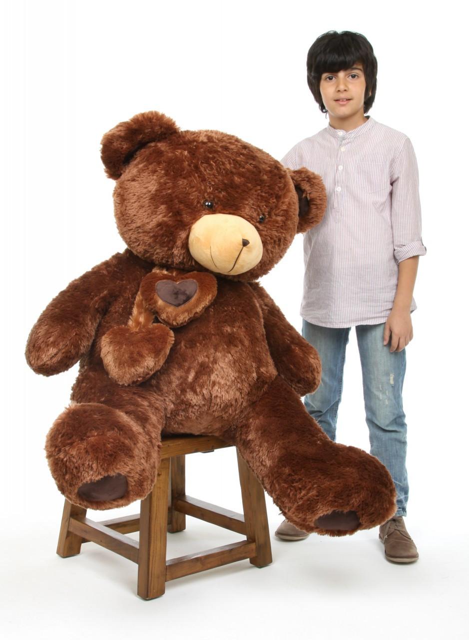Lucky Hugs 45 Chestnut Brown Jumbo Teddy Bear Giant Teddy Bears