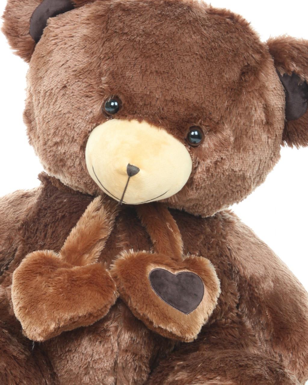 Lucky Hugs chestnut brown teddy bear 36in