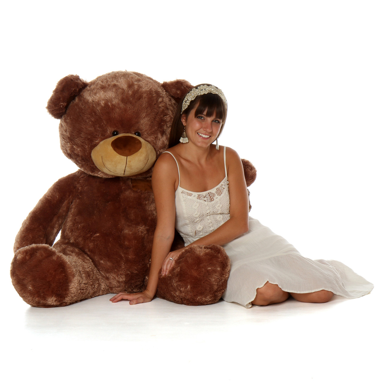 Giant 4 Foot Teddy Bear Shags Sitting Position