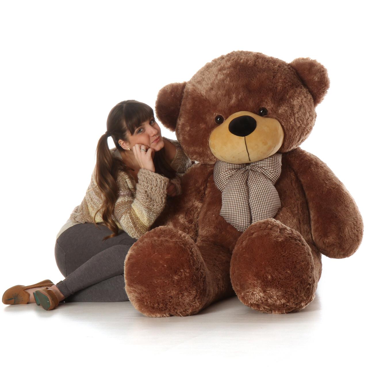 5ft Best Selling Life Size Teddy Bear Sunny Cuddles beautifully soft mocha fur