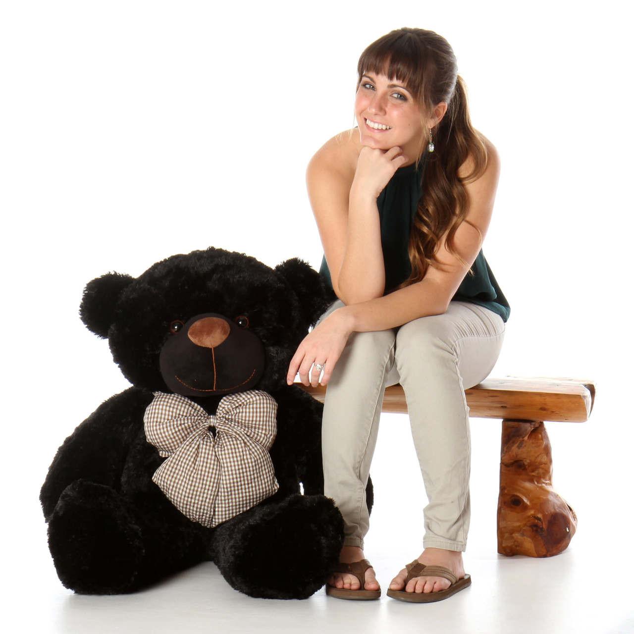 38in Juju Cuddles Black Teddy Bear