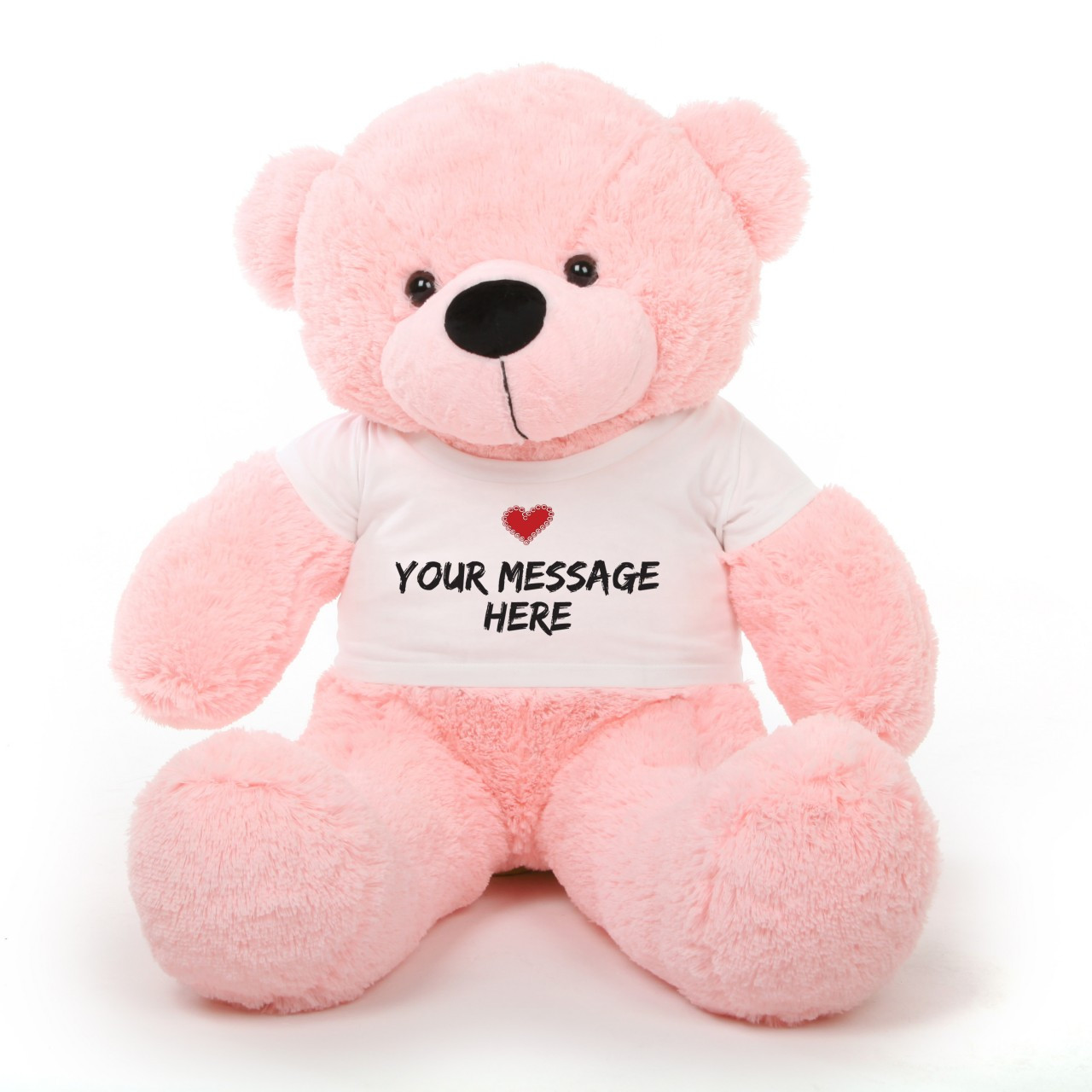 At 38 inches, She's the most perfect pink personalized teddy bear in the world!