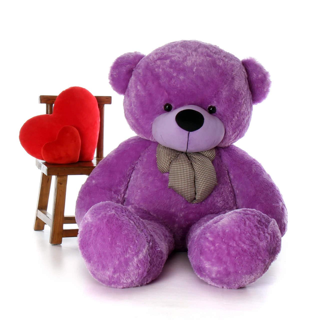 72in life size purple teddy bear is every girl's dream come true DeeDee Cuddles from Giant Teddy