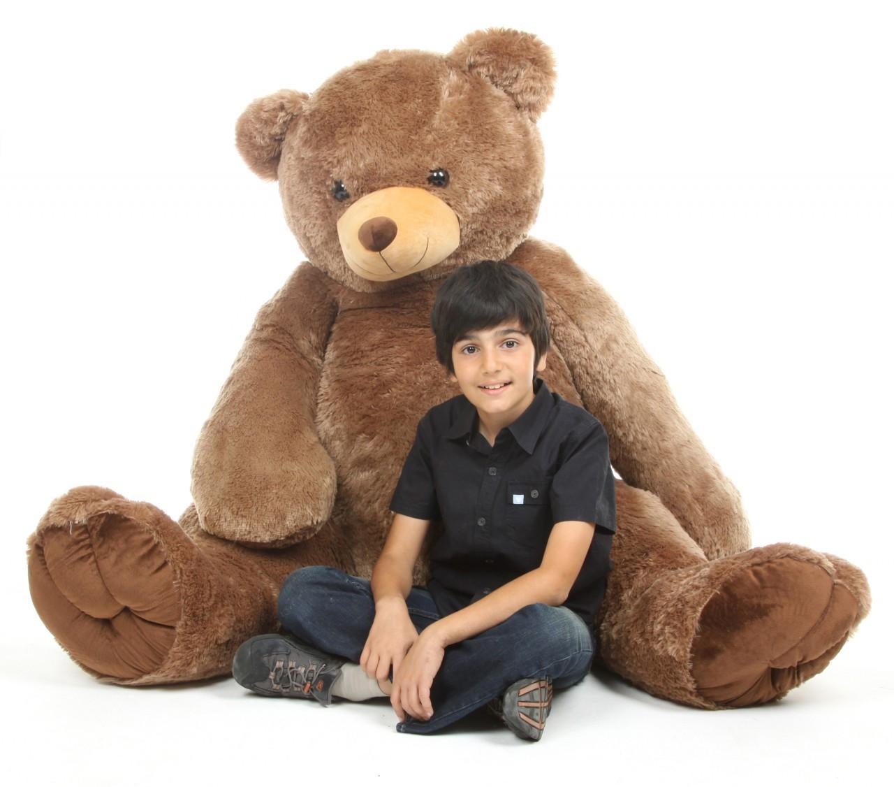 Life Size 65in Mocha Brown Sweetie Tubs Teddy Bear