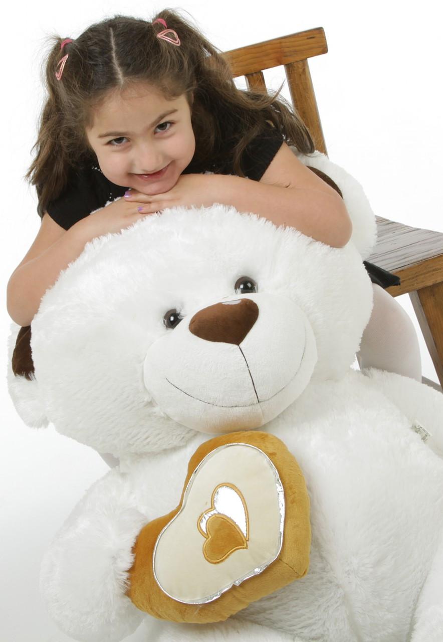 4ft White Extra Large Chomps Big Love Teddy Bear