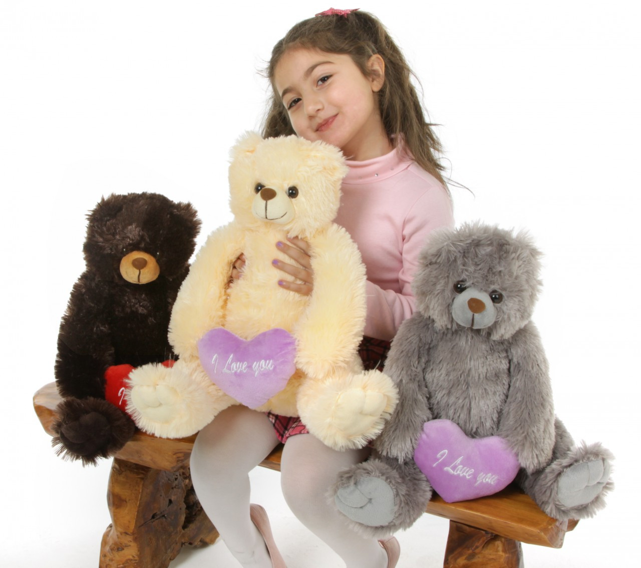 Gimme Some Lovin Bear Hug Care Package Sugar Heart Tubs gray teddy bear 18in