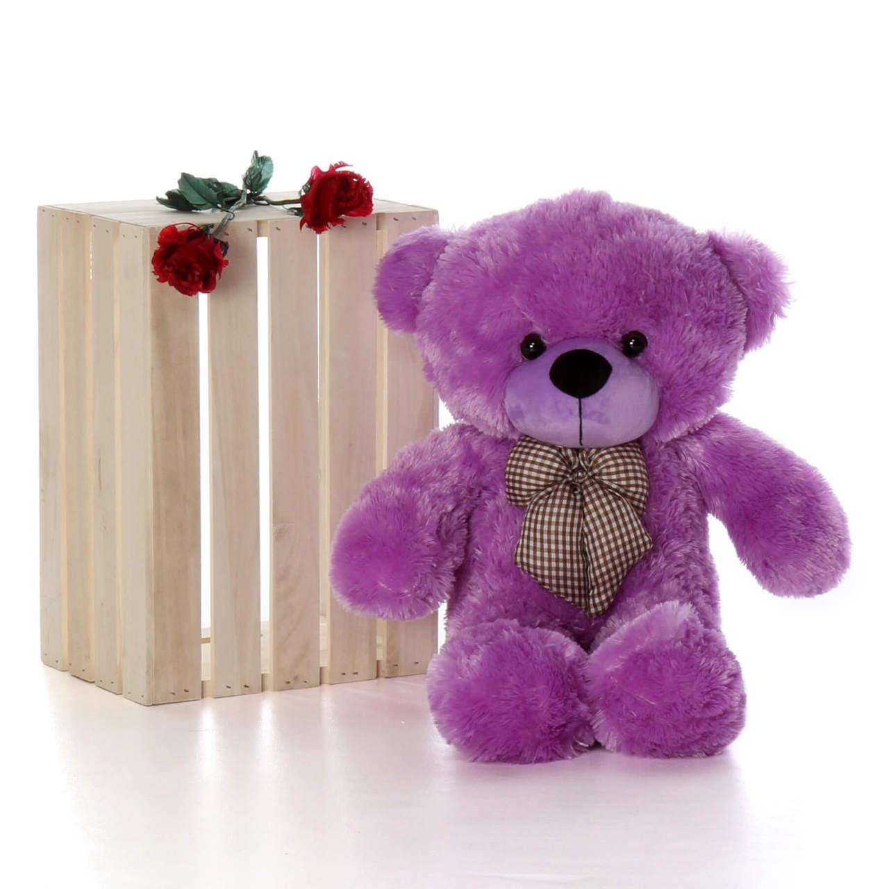 30in Oversized Purple DeeDee Cuddles teddy bear