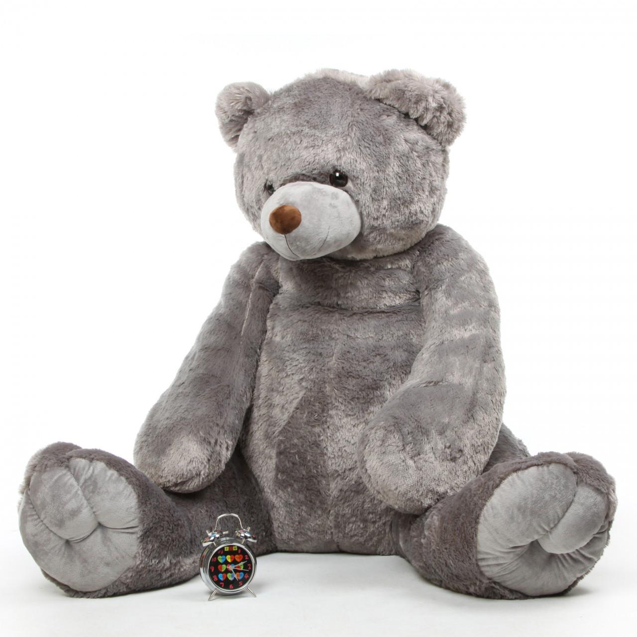 Extra Large Grey Cuddly Plush Teddy Bear 70in Sugar Tubs
