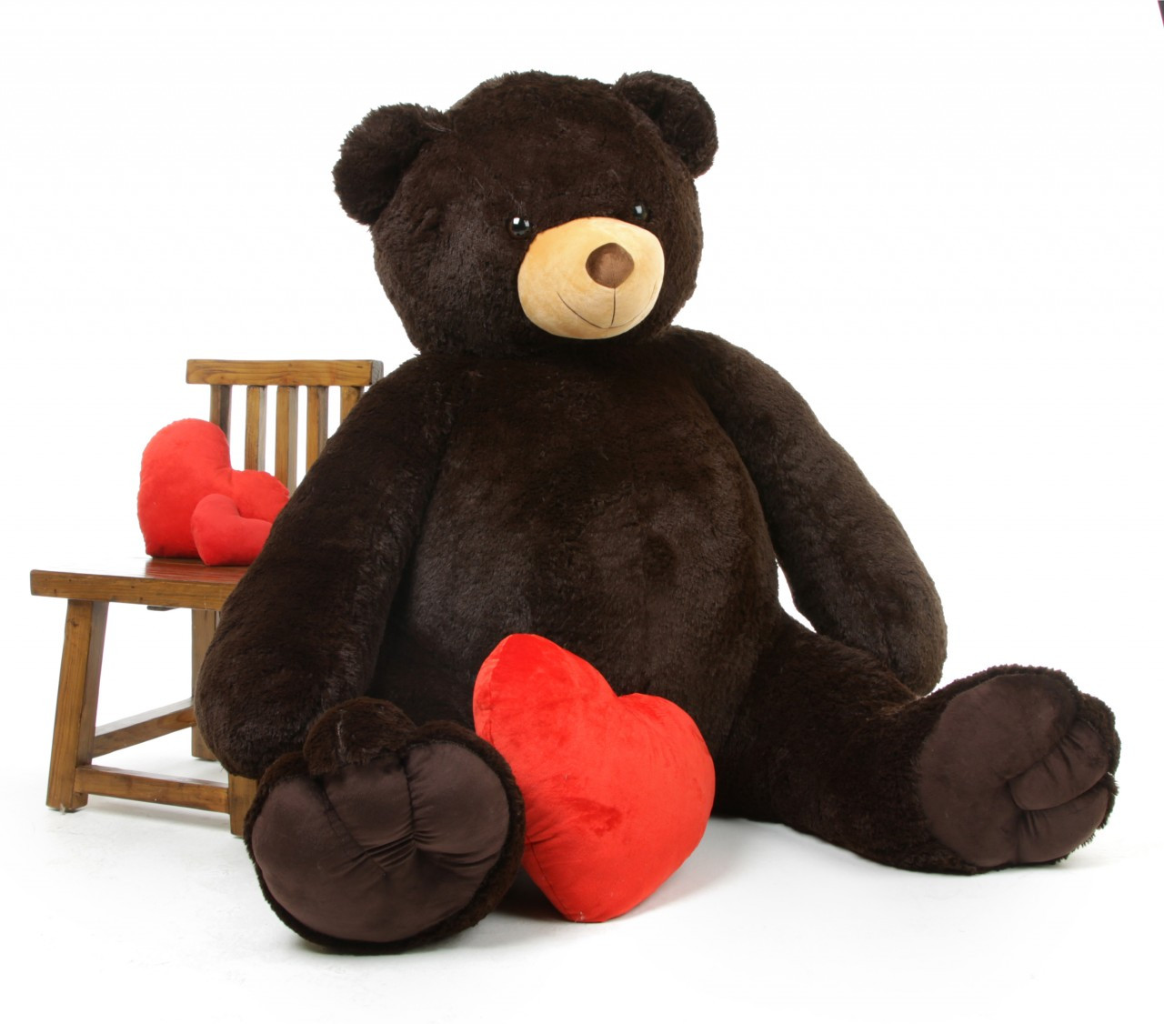 Baby Tubs Life Size Cuddly Chocolate Brown Giant Teddy Bear 65 inch