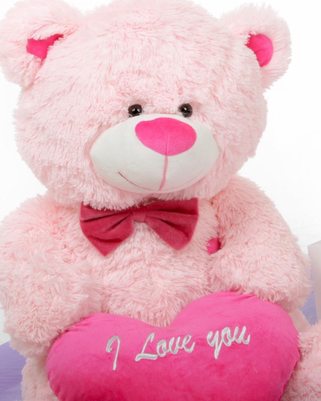 30in Pink Teddy Bear with I Love You Heart LuLu Shags