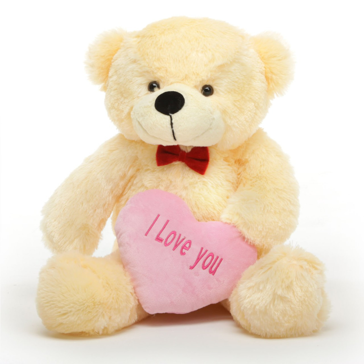 cozy l cuddles 30 vanilla teddy bear w i love you heart giant