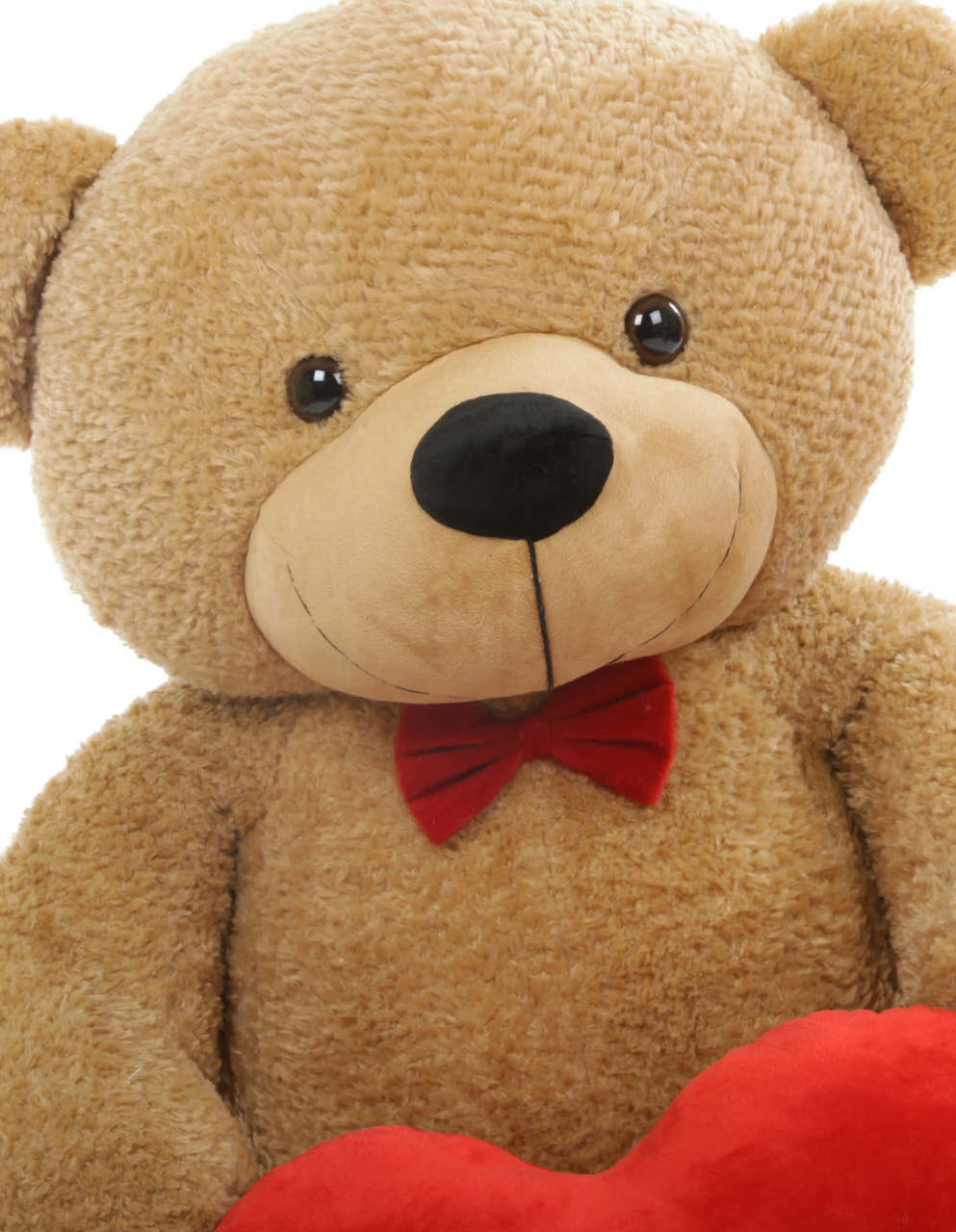 Shaggy L Cuddles Amber Teddy Bear with I Love You Heart 4ft